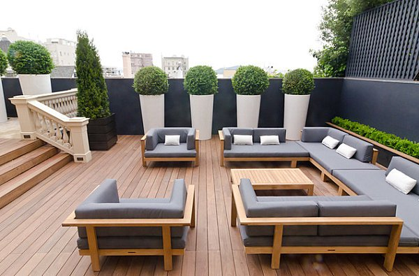 2 id es pour am nager sa terrasse ou son balcon. Black Bedroom Furniture Sets. Home Design Ideas